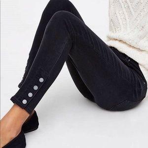 Loft Modern Skinny Jeans Sz 00/24 Button Cuff hem